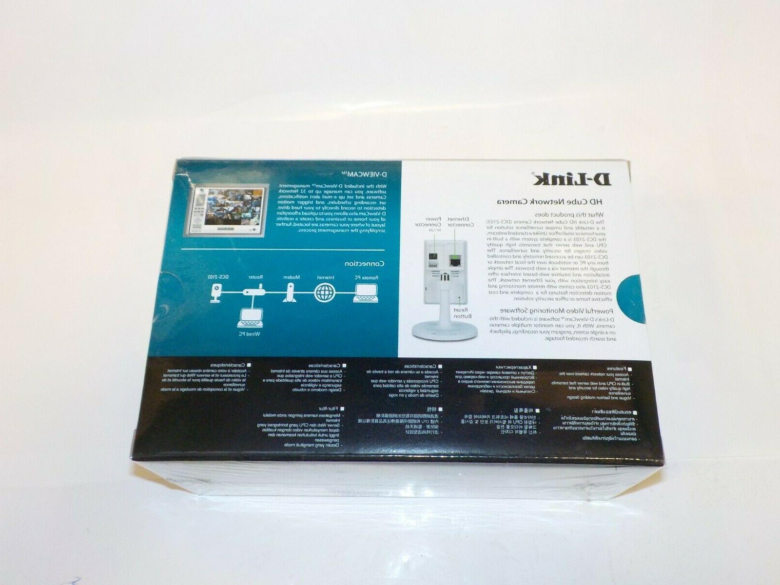 NEW D-Link DCS-2103 720P HD Cube Security