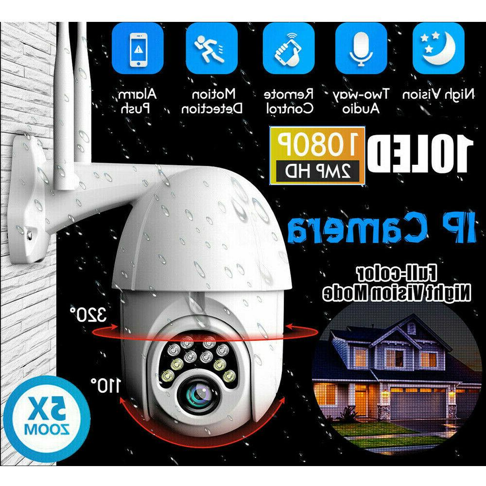 Outdoor Waterproof WiFi PTZ Pan Tilt 1080P HD Security IP IR