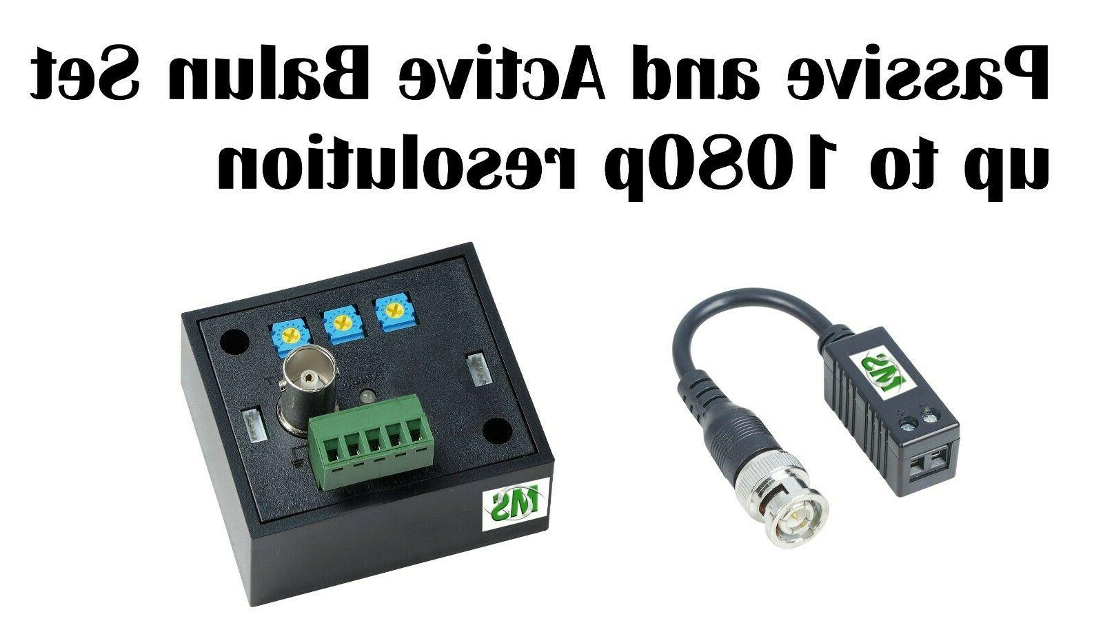 passive and active balun for hd cctv