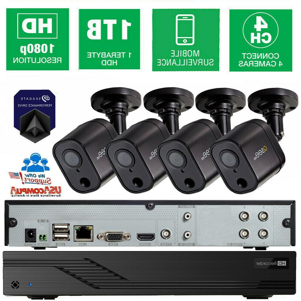 q see security system 4ch 4 cameras