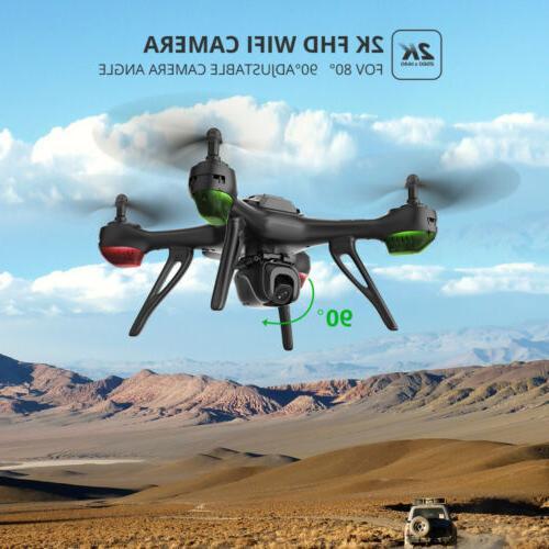 Holy Stone GPS FPV Drone HD Angle Camera WIFI RC Follow Me