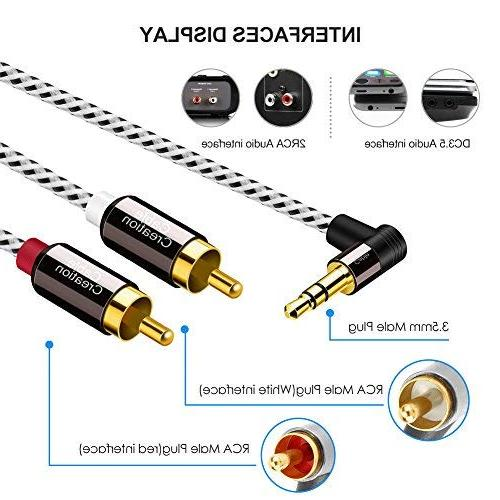3.5mm to RCA Cable,CableCreation 10 Feet 3.5mm Male to 2RCA Male Auxiliary Stereo Splitter MP3, Tablets, Speakers,Home