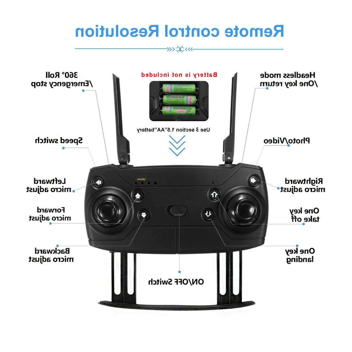Cooligg Wifi HD Camera Drone Aircraft Foldable Selfie