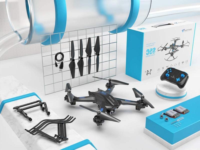 Snaptain Drone 720P Hd Camera,Voice
