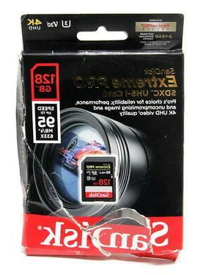 sandisk extreme pro 128gb sdxc uhs i card