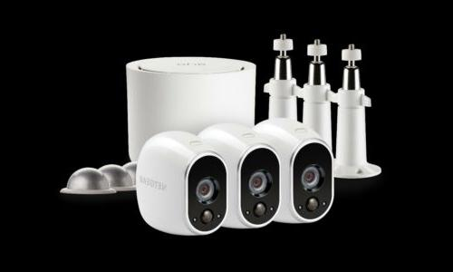 SEALED Arlo System with 3 Wire-Free HD Cameras