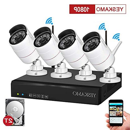 security camera system outdoor yeskamo wireless home 1080p c