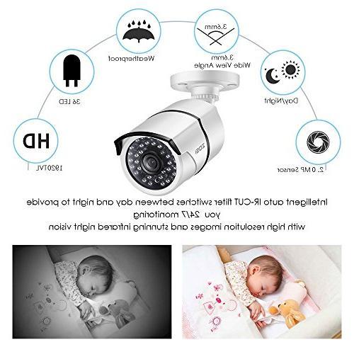 ZOSI Channel Video System,16 DVR 1080p Hybrid Recorder CCTV Vision