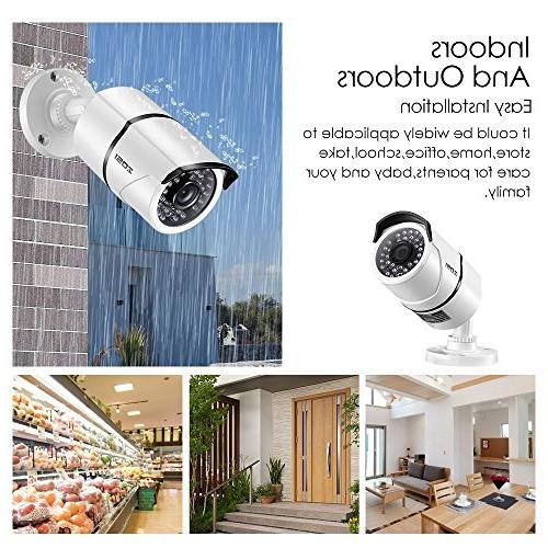 Security System,16 Channel HD Recorder and Outdoor/Indoor CCTV with 100ft Vision and 105°Wide Angle