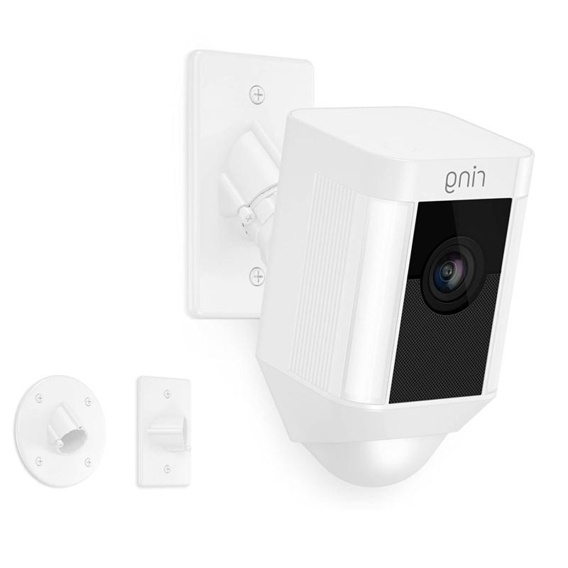 spotlight cam mount hd security camera white