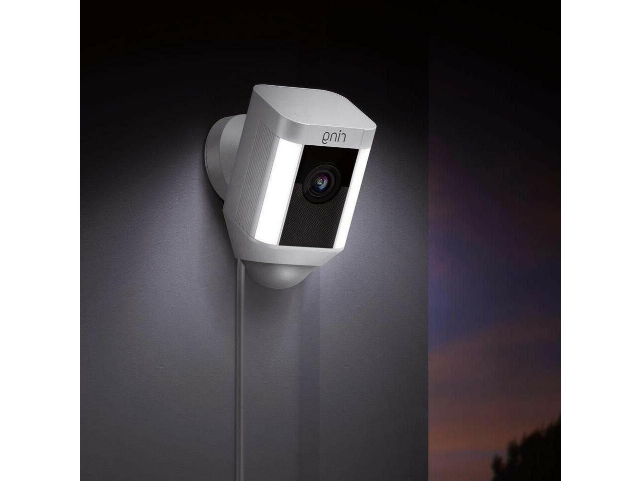 Ring Spotlight Security Camera White NEW