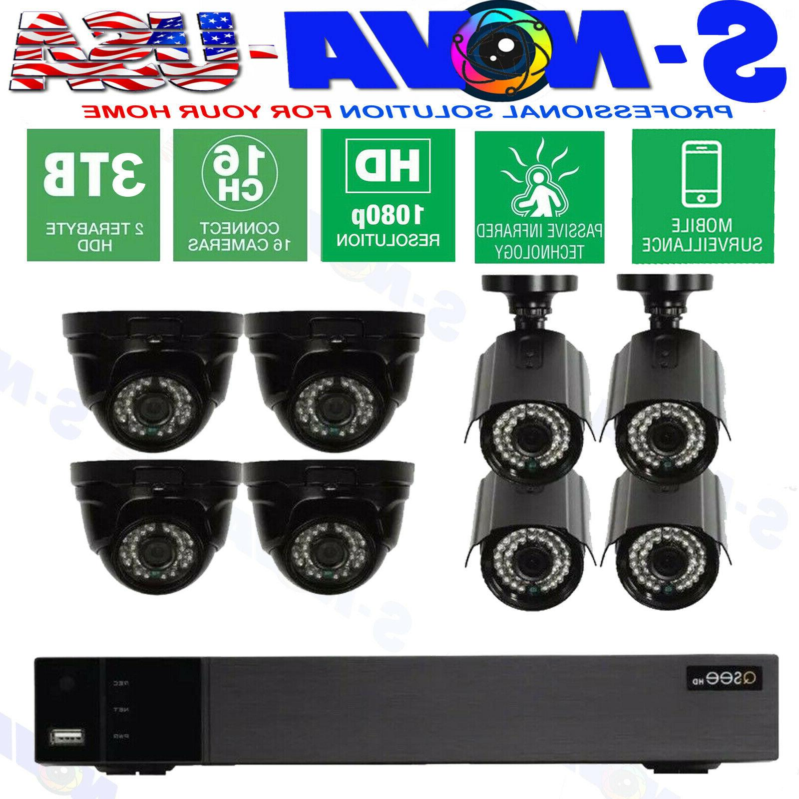 surveillance security camera system16 channel 1080p full