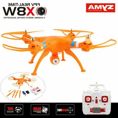 Syma X8W 2.4Ghz 6-Axis Quadcopter Drone HD RTF Helicopter