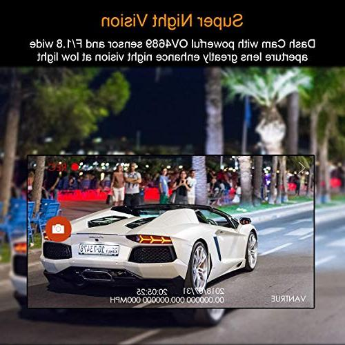 VANTRUE GPS WiFi Super Cam Super 1920X1080P HDR Camera Night 24Hs Mode, Amba Detection, Support