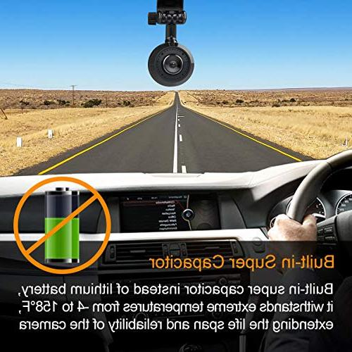 VANTRUE WiFi Super Super HD 1920X1080P HDR 170° Car Camera w/ADAS, Night Vision, 24Hs Mode, Amba Detection, Support 256GB