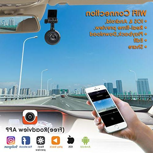VANTRUE T1 GPS WiFi Super Dash Super HD 2K 1920X1080P HDR Camera Camera Night Vision, Mode, A12, Detection, 256GB