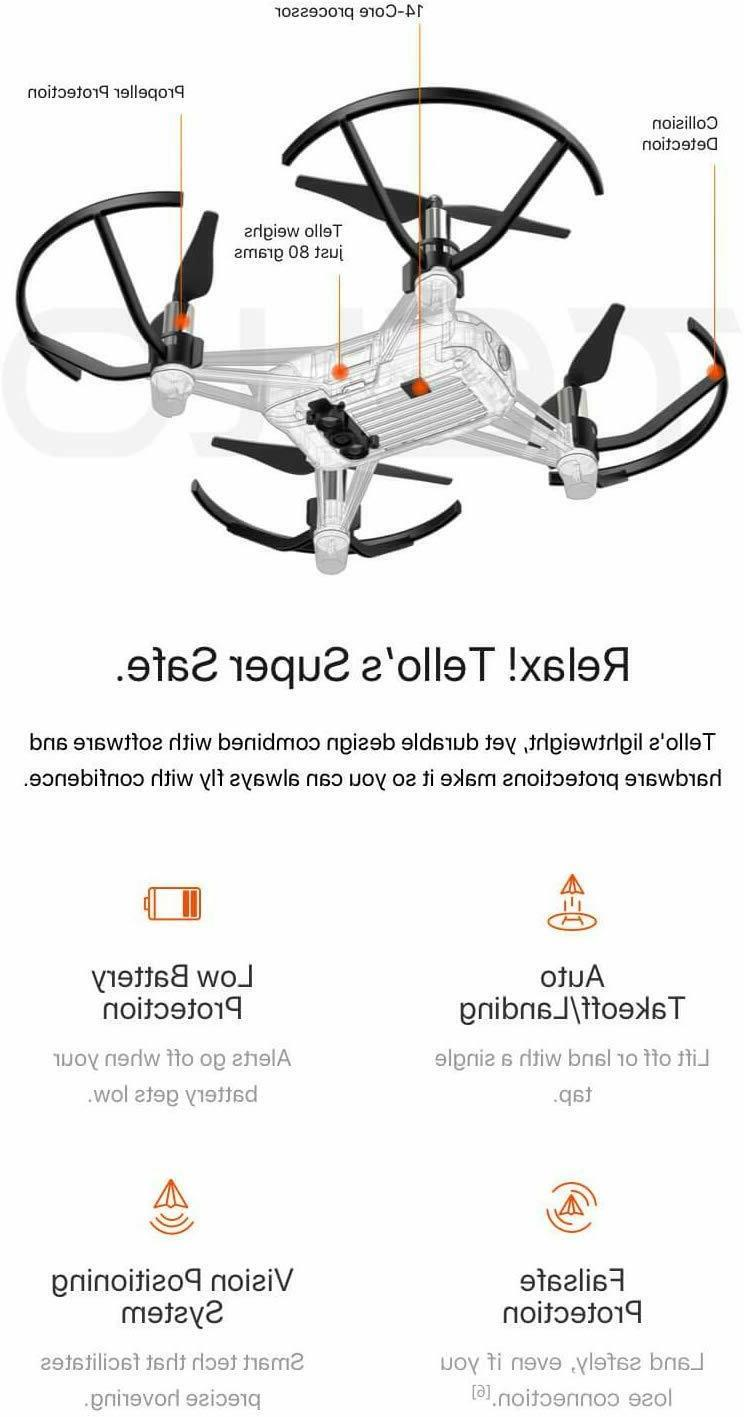 Tello Quadcopter HD Camera DJI, RYZE New! Sealed!