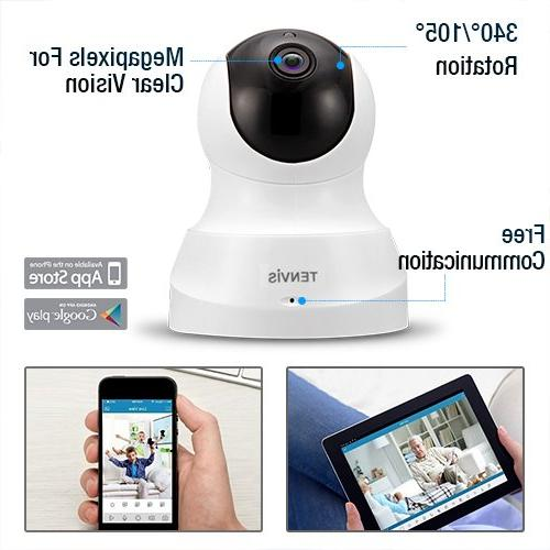 TENVIS HD with Two-way Audio, Vision 720P for Baby Monitor, Security Camera Detection Camera Micro Card Slot