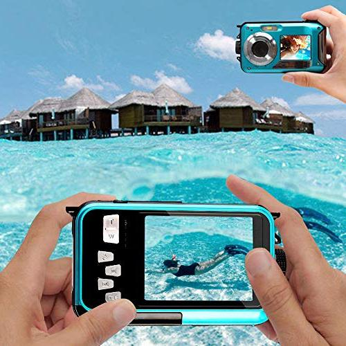 Underwater 24.0MP Waterproof Digital Full HD 1080p Selfie Video Point Shoot Digital Camera