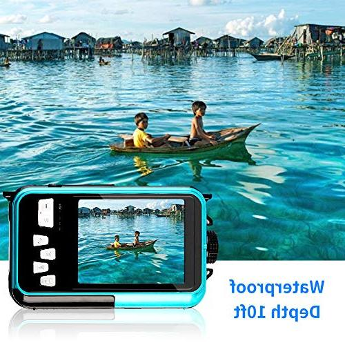 Underwater Digital Camera Full HD 1080p Dual Video Shoot Digital Camera