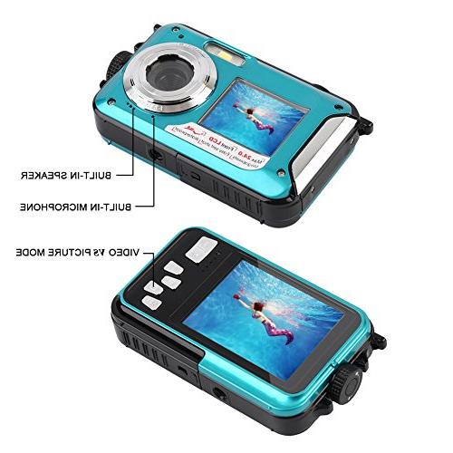 Underwater Camera 24.0MP Digital Full HD 1080p Dual Screen Video Shoot