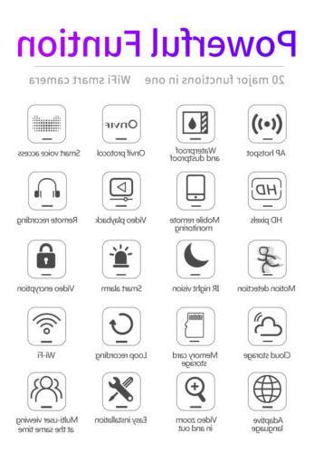 US 1080P CCTV WiFi PTZ Security Wireless IR