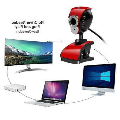 USB 2.0 50.0M 480P 6 LED Webcam Cameras With PC Laptop