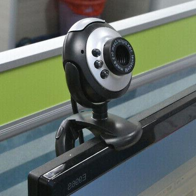 USB 2.0 50.0M 6 LED Cameras With MIC For PC Computer