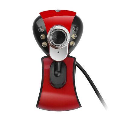 USB 50.0M 6 LED HD Webcam Cameras PC Laptop Computer