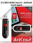 SanDisk USB Drive Flash Cruzer Glide 128GB 2.0, Black,Brand