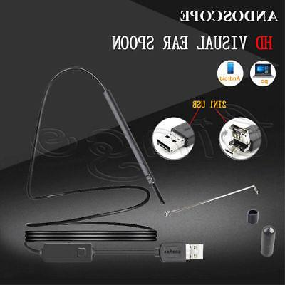 Digital USB LED Otoscope Ear HD Mini Camera Scope Earwax Rem