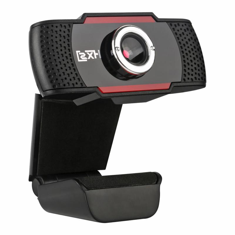 USB Webcam HD 480P Video Recording Camera Live Conference We