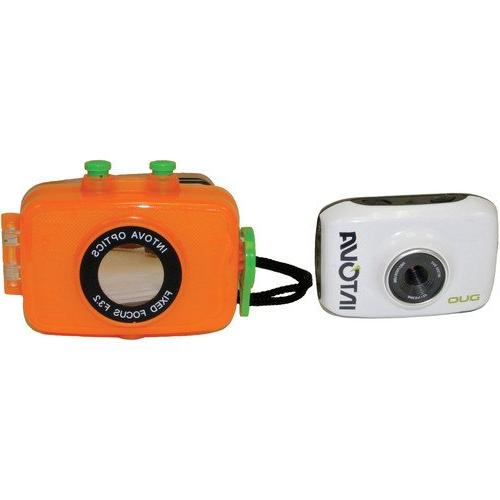 Intova Duo Waterproof POV Sports Camera With + 32GB Card Clean