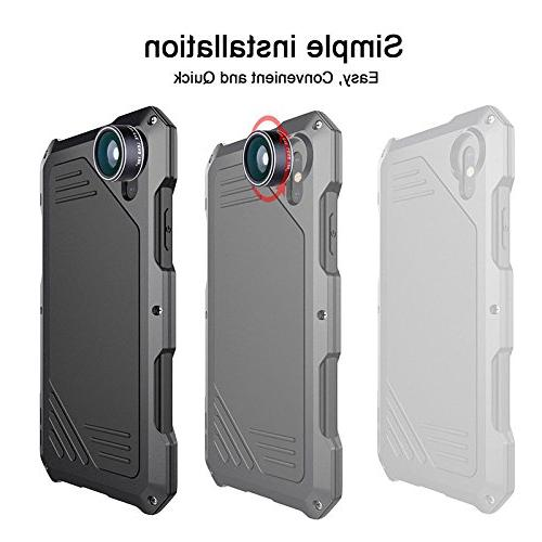 Waterproof Metal Case Back Cover with HD Lens for iPhone