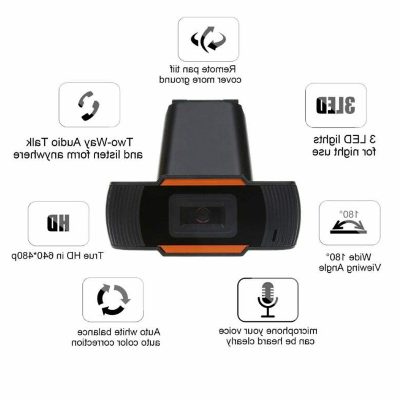 Webcam HD Camera USB Video MicroFone PC Gamer