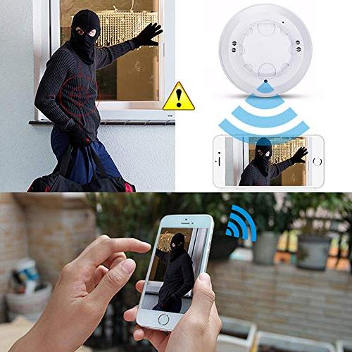 Alician Hot WiFi 1080P IP Smoke Detection Nanny Cam DVR