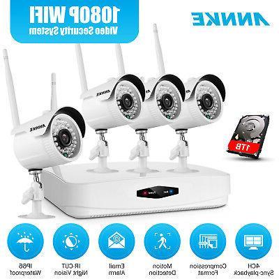 wireless 1080p 4ch nvr kit 2mp hd