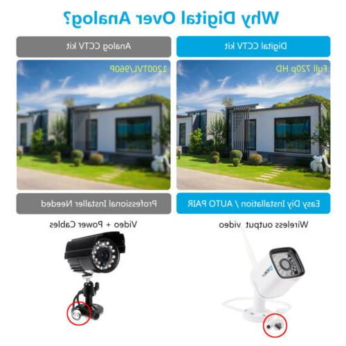 Wireless NVR WIFI HD Cameras CCTV System