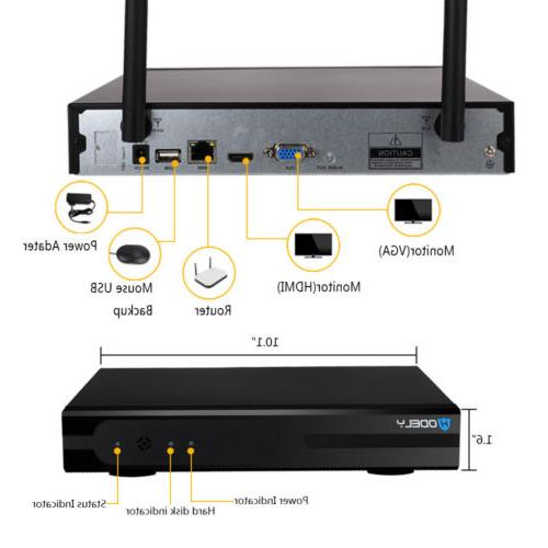 Wireless 1080P WIFI HD Cameras CCTV System