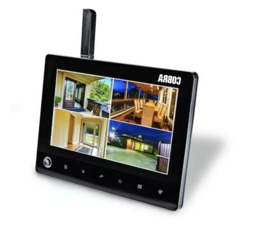 💥Wireless Monitor 4 Wireless Cameras! Ch Cobra Outdoor Indoor💥