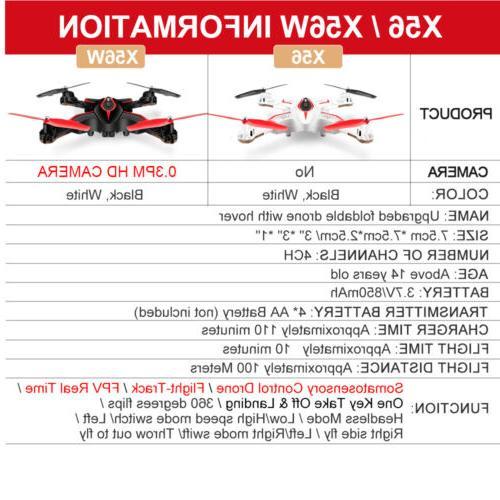 Syma X56W RC Folding WIFI Camera FPV X56 Drone Quadcopter