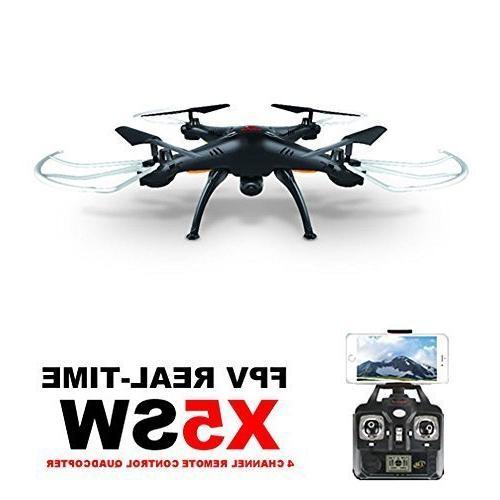 Syma X5SW 4CH 6-Axis Camera 360-degree 3D Mode 2 RTF Quadcopter,