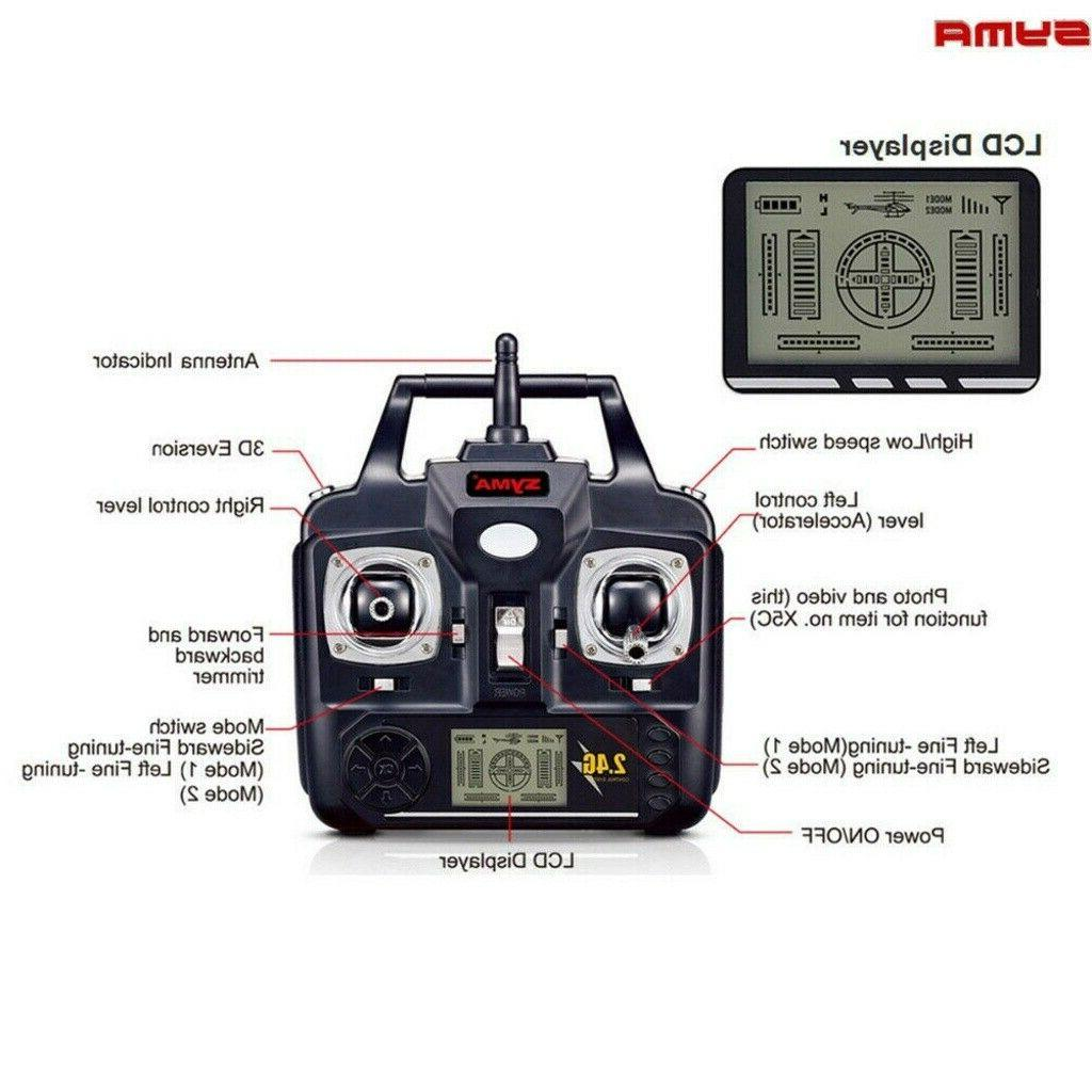 Syma Quadcopter Wifi with Camera Gyro 5 Batteries
