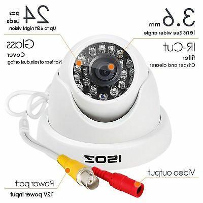 "ZOSI HD 1/4"" 24 IR LED Waterproof Home Security"