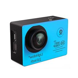 Lightdow LD6000 Wifi 1080P HD Sports Action Camera Kit - App