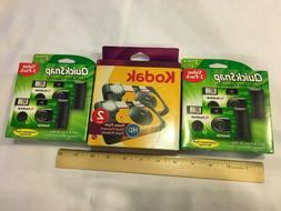 Lot of 6 Disposable Cameras 27 Exp. NEW EXPIRED Kodak HD Fuj