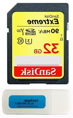 SanDisk 32GB Extreme Memory Card works with Panasonic Lumix