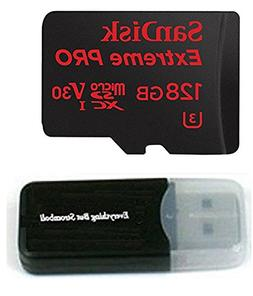 128GB Sandisk Extreme Pro 4K Memory Card for Gopro Hero 6, F