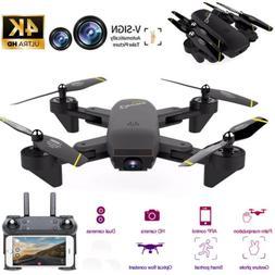 Mini Drone Selfie WIFI FPV Dual HD Camera Foldable Arm RC Qu