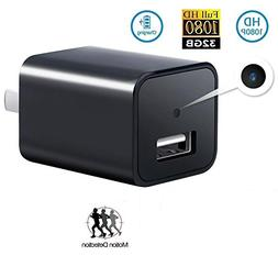 Mini USB Charger Camera, TOTUOKEY 1080P HD Motion Detection